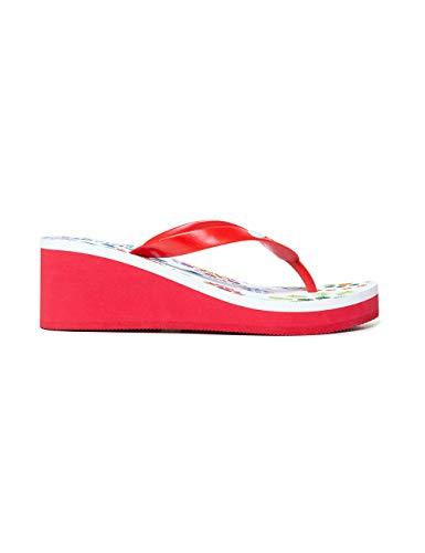 Desigual Shoes Lola Galactic, Chanclas para Mujer, Blanco Blanco 1000, 37 EU