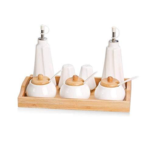 Spice Jars Home Gewürzflasche Küche Keramik Gewürz Tk Gewürz Tk Gewürzkasten Öl Tk Gewürzflasche Gewürzkasten Salz Tk Haushaltsset (8 Baugruppen)