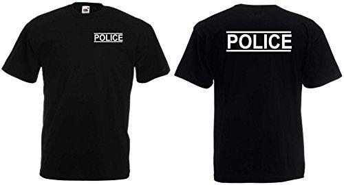 world-of-shirt Unisex T-Shirt POLICE Funshirt|schwarz-XL Cap Polo Club