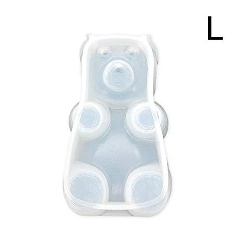 Chifans Packung Kunststoffkleber Mold Silikonform Sitting Bear Cubs Geformte Dekoration für Anfänger und Profis