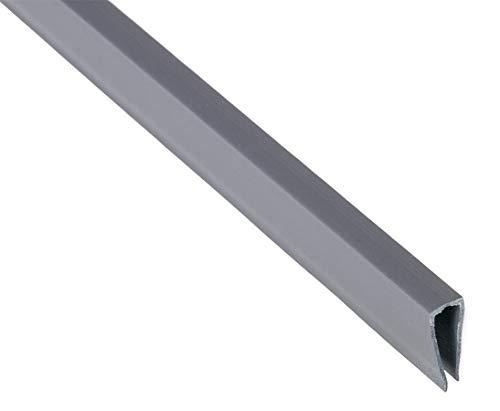 bambus-discount.com Abschlusskante U-Profil, Länge 150cm, für Sylt und Rügen,aluminium/silber