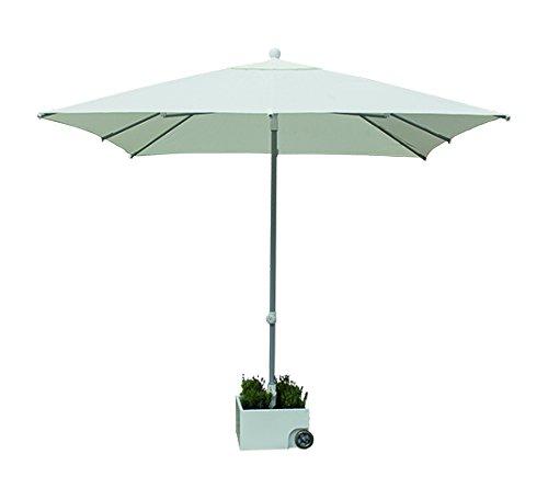 Eclisss quattro parasole in alluminio, bianco, 2.5 x 2.5 m