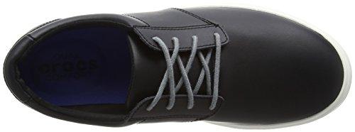 Crocs Citilane Leather Lace Up, Baskets Basses Homme Noir (Black/White)