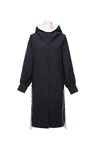 Les Femmes Plus Longtemps À Mince Manteau Jacket Impers Black