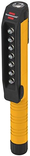 Brennenstuhl LED Inspektionsleuchte / handliche LED Arbeitsleuchte (Stiftleuchte batteriebetrieben, inkl. drehbarem Clip mit Magnet) Farbe: orange