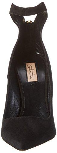 Sebastian - S7143, Scarpe col tacco Donna Nero (Schwarz (Camner/Oro))
