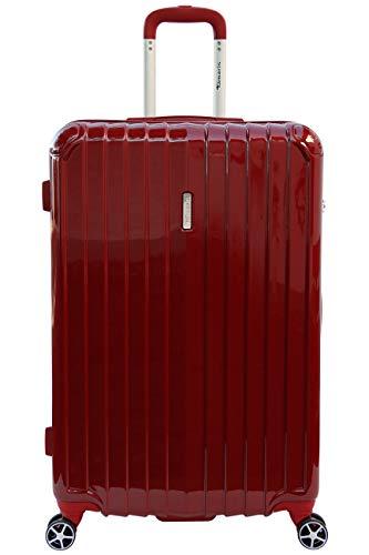 Tamaris Fun Hartschalen Koffer, 4 Rollen Reisekoffer für Damen/Herren mit TSA Schloss, 77x51x30 – 90L, Rot