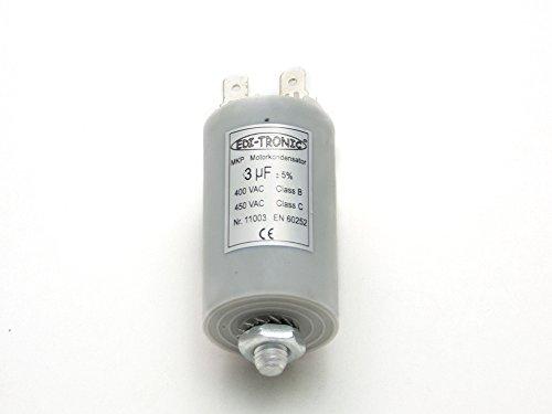Preisvergleich Produktbild Kondensator Anlaufkondensator Motorkondensator Arbeitskondensator MKP 3µF 450V