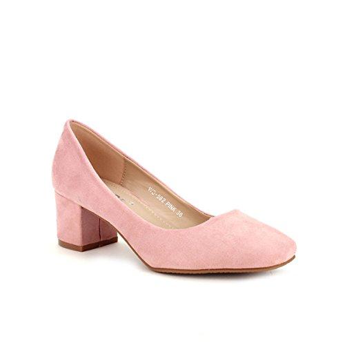 Cendriyon, Ballerine Rose WEIDE MODE Chaussures Femme Rose