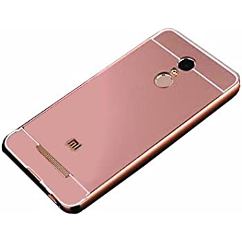 CEDO mirrorXiomMiNote3RS Premium Luxury Metal Bumper Acrylic Mirror Back Cover Case For Xiaomi Redmi Note 3 - Rose Gold
