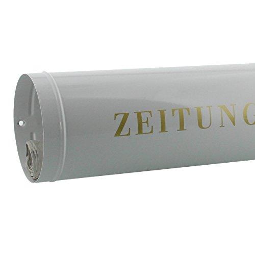 BURG-WÄCHTER Zeitungsrolle mit Kunststoffabdeckung, Briefkastenergänzung, Verzinkter Stahl, 800 W, Weiß - 4