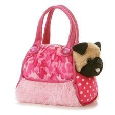 Aurora Fancy Pals - Perro de peluche en bolso, estampado de camuflaje, color rosa por Aurora