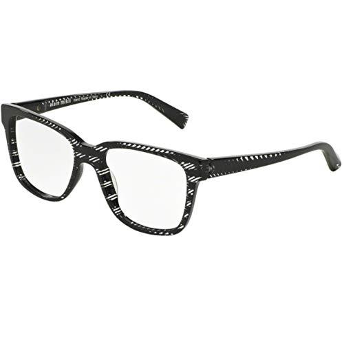 Alain mikli occhiali da vista, modello 0a3034 colore 0299, montatura in acetato color nero non uniforme, con striature color bianco, stile unisex