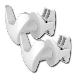 Linea Handy - Juego de 2 ganchos para toallas
