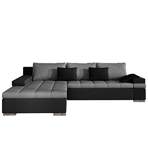 Design Ecksofa Bangkok, Moderne Eckcouch mit Schlaffunktion Bettkasten Ecksofa für Wohnzimmer Gästezimmer Couch L-Form...
