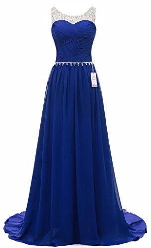 Eudolah -  Vestito  - linea ad a - Donna blu zaffiro
