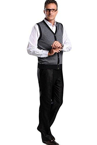 Vogstyle Uomo Nuovo Giacca Senza Manica Dark Grey-Style 4