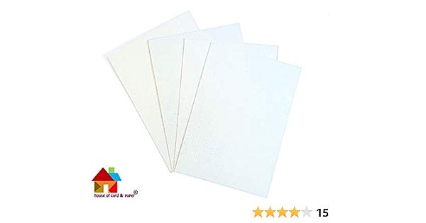 House of Card /& Lot de 10 feuilles de papier /à paillettes Dor/é 240 g//m/² Format A2