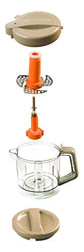 Nuvita 1966 Pappasana Vapor Combo 6 In-1 Babynahrungszubereiter - Dampfgarer - Flaschenwärmer – Homogenisator – Entfroster – Stahlklingen Mixer – Babynahrung – Vaporisator - Italienisches Design - 6