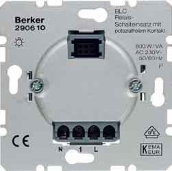 Berker Relais Schalteinsatz 290610 mit potenz.Kontakt HAUSELEKTRONIK Elektronischer Schalter 4011334272113
