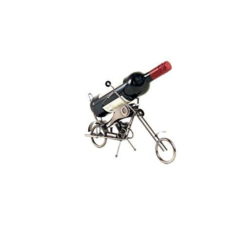 Weinhalter Flaschenständer aus Metall Chopper Motorrad | knuellermarkt.de | Dekoration Ständer