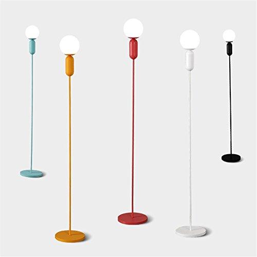 Art-deco-glas-kronleuchter (U-Enjoy Kronleuchter Kreative Macaron Bunte Glas-Stand Wohnzimmer Stehlampe Art Deco Design LED Körper Schlafzimmer New Lighting Kugel Kostenloser Versand [Kaltes Weiß & Schwarz])