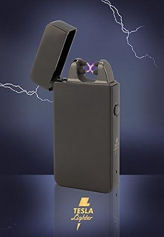 Tesla-Lighter T11 Lichtbogen Feuerzeug Elektro Double-Arc elektronisch wiederaufladbar. Aufladbar per USB mit Strom ohne Gas und Benzin. Mit Ladekabel in edler Geschenkverpackung (Ein Ganz Besonderes Geburtstagsgeschenk)