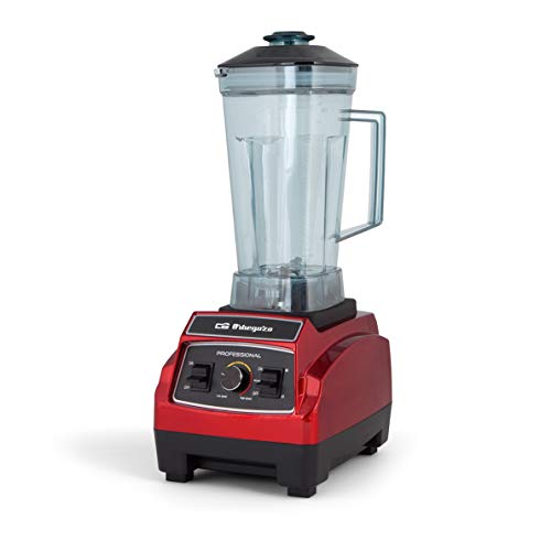 Orbegozo BV 9600 - Batidora de vaso profesional, capacidad 2,2 litros, libre de BPA, regulador de potencia...