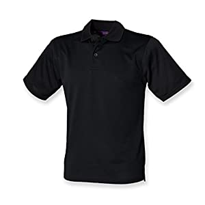 31dn1owLT2L. SS300  - Henbury Mens Coolplus Wicking Pique Polo Shirt Burgundy M