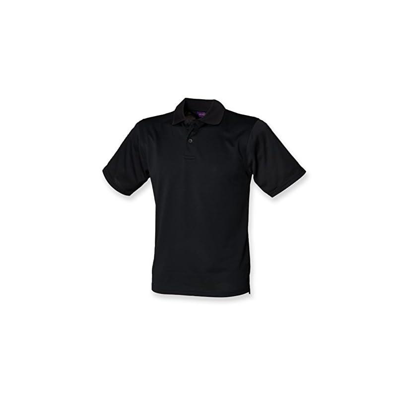 Henbury Mens Coolplus Wicking Pique Polo Shirt Burgundy M