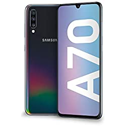 "Samsung Galaxy A70 Display 6.7"", 128 GB Espandibili, RAM 6 GB, Batteria 4500 mAh, 4G, Dual SIM Smartphone, Android 9 Pie, (2019) [Versione Italiana], Black"