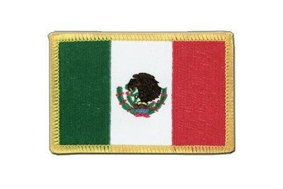 Mexiko Aufnäher, mexikanische Flagge 6x8cm, MaxFlags®