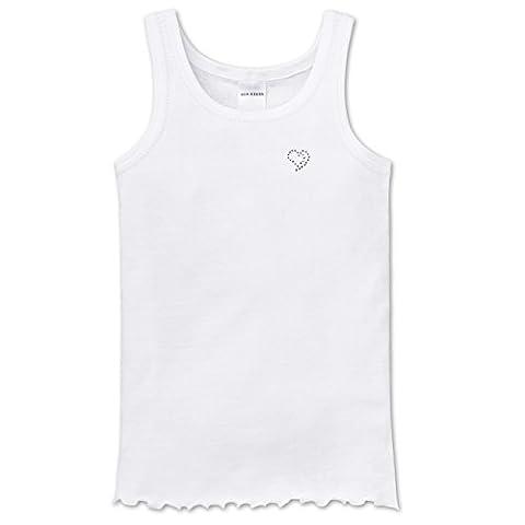 SCHIESSER Girls Feinripp Unterhemd Ajourée Original Classics 2er Pack, Größe:116;Farbe:Weiß (100)