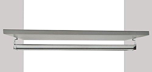 Kleiderstange / Schrankrohr Set mit Regalhalter, für Garderobe Kleiderschrank oder Nische (10-100cm)