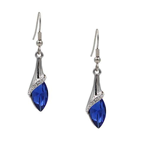 totoroforet-swarovski-elements-tear-drop-hook-earrings-navy-blue