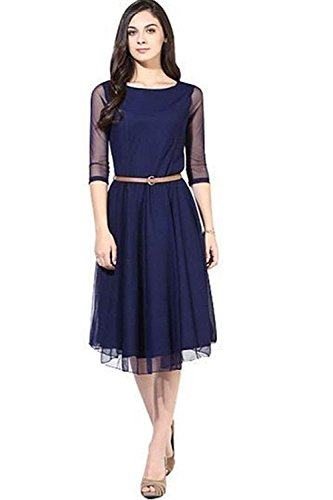 Sky Global Women's Georgette Blue Kurti (SKY_Kurti_7009)