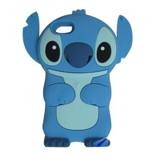 Global Ipod Touch 5 Blue Lovely Stitch Movable Ear Flip Silicone Case Cover for Apple iPod Touch 5th