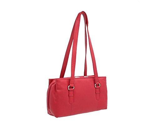 Zainetto con Zip Tripla in Pelle Mala Leather Collezione LUCY 734_30 Lampone Lampone