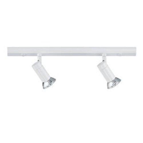 Hufnagel 445221 Rail de Spots GU10 2 X 40W Blanc