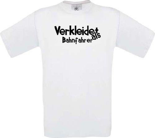 camiseta de niño Carnaval Verkleidet als Conductor del tren Disfraz De Carnaval Revestimiento Talla 104-164 - Blanco, 164