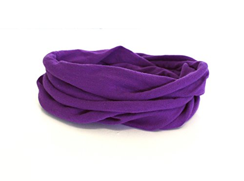 Andrea Traub - FASHION Kleinkinder und Baby - Loop zweifach gewickelt, uni lila, Kids Schlauchschal, Schal Tuch für Mädchen und Jungen