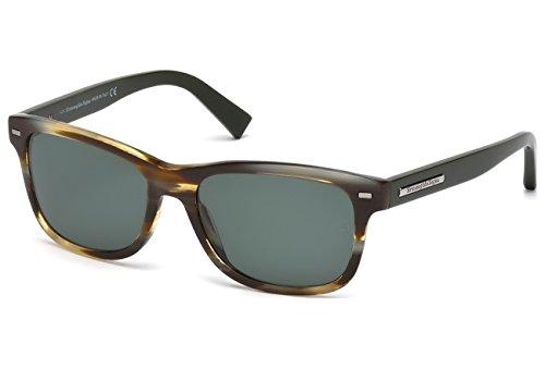 Ermenegildo Zegna Herren EZ0001 Sonnenbrille, Braun, 56