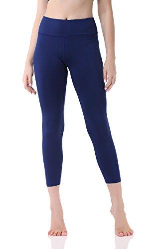 Pau1Hami1ton Damen Leggings 3/4, Sporthose Fitnesshose Training Laufhose Sport Tights Hohe Taille Yogahose GP-07(Blue,L)