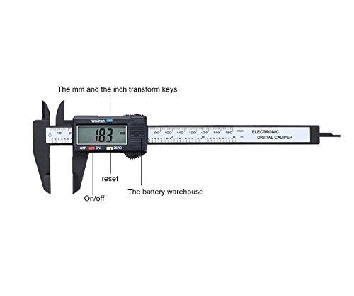 NRG Clever® CAL150ECP Digitalanzeige für Messungen bis zu 150 mm (6 Zoll). Doppelwaage, Automatische Null.