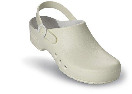 Schürr Chiroclogs Professional OP-Schuh Unisex mit und ohne Fersenriemen Weiß mit Fersenriemen