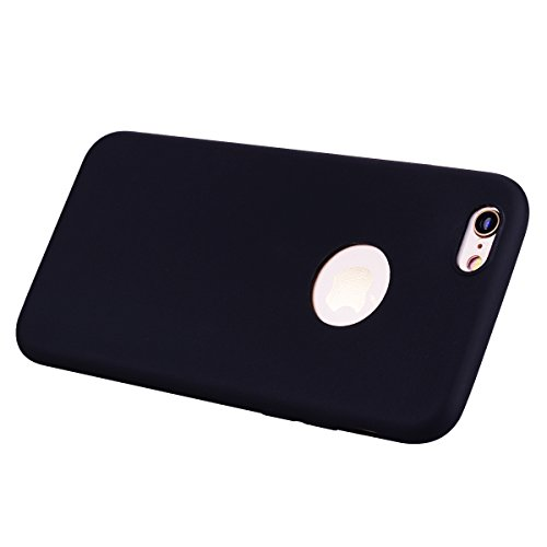 Cover iPhone 6S (4.7),ToDo Custodia iPhone 6 Gel Silicone TPU Morbido Elegant Ultra Tinta Unita Sottile Opaco Flessibile Gomma Cassa Protettiva Antiurto AntiGraffio Antiscivolo Leggero Cellulari Prot Nero
