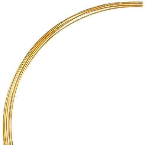 5ft Fine 14k Gold Filled Round Wire 28 Gauge 28ga (0.3mm) Dead Soft by Dreambell