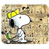 leonardcustom- personalizada Rectángulo de goma antideslizante alfombrilla de ratón Gaming Mouse Pad/mat- dibujos animados Snoopy–lcmpv460