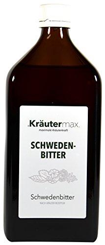 Schweden-Bitter 1 x 500 ml - Schweden-Kräuter mit Löwenzahn, Wacholder, Enzian, Kalmus, Salbei, Angelika, Lavendel, Tausendgüldenkraut - Schwedenbitter zum Einnehmen - 30 % vol. -