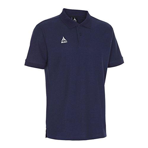 Select Polo t-Shirt Torino, Unisex Adulto, Azul, Large